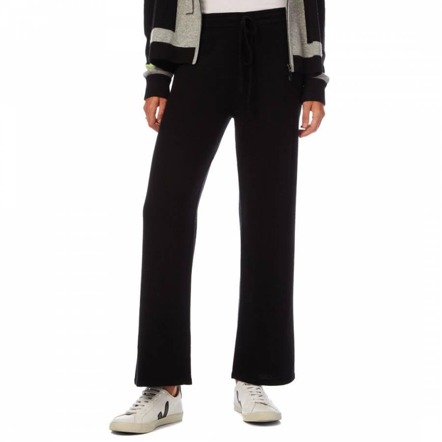 Cashmere gifts Scott & Scott London Black Wide Leg Cashmere Trouser