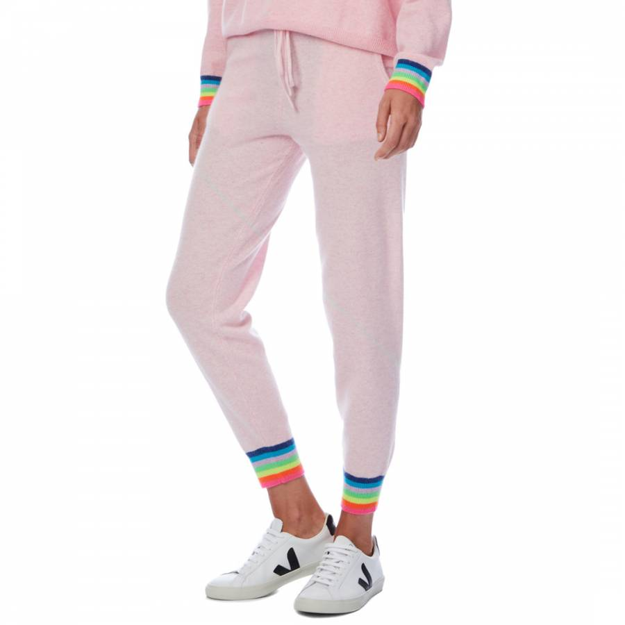 Cashmere gifts Pink Rainbow Cuff Cashmere Jogger