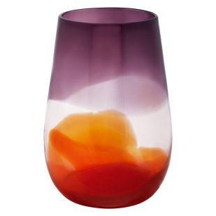 Habitat Orange/Purple Reverso Two Tone Vase
