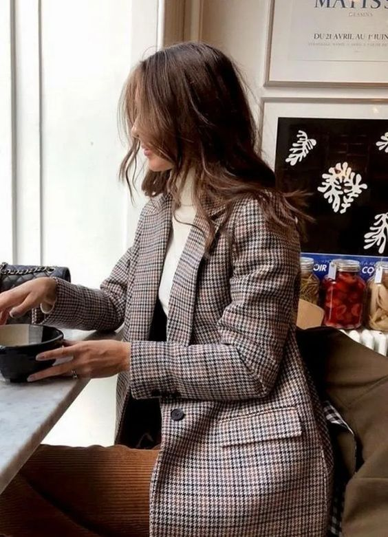 investment pieces checked blazer