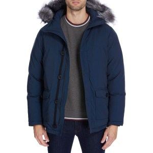 GIANNI FERAUD Navy Padded Arnold Coatm winter coats for men