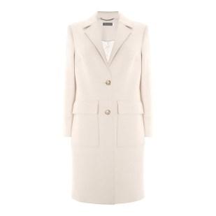 Mint Velvet White Luxe Twill Coat winter coat
