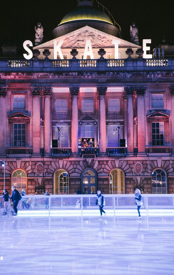 Somerset House ice skating rink winter Christmas activities