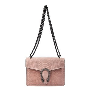 Isabella Rhea Light Pink Leather Shoulder Bag