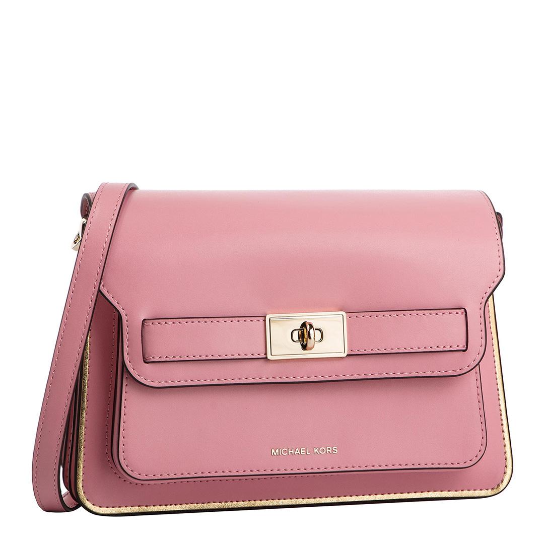 MICHAEL KORS Carnation Pink Michael Kors Leather Handbag