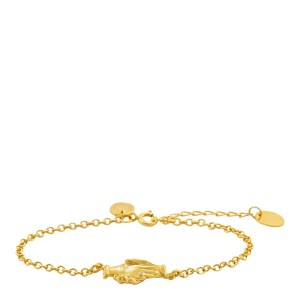 ALEX MONROE Gold Plated Hands of Friendship Bracelet