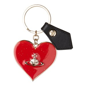 Vivienne Westwood Red Mirror Heart Gadget Keyring
