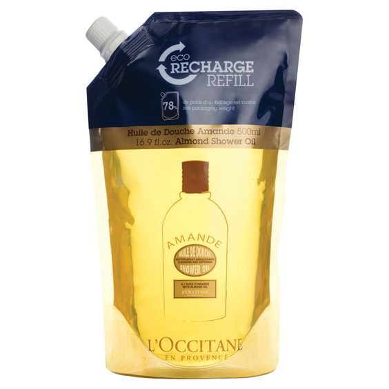 L'Occitane refillable body oil, reusable beauty products