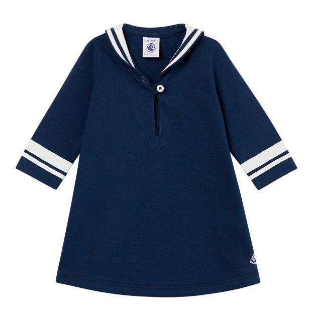 PETIT BATEAU Navy Breton Dress