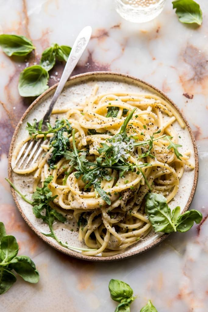 cacio e pepe with arugula and lemon spaghetti recipe
