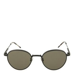Bottega Veneta Grey Green Round Sunglasses