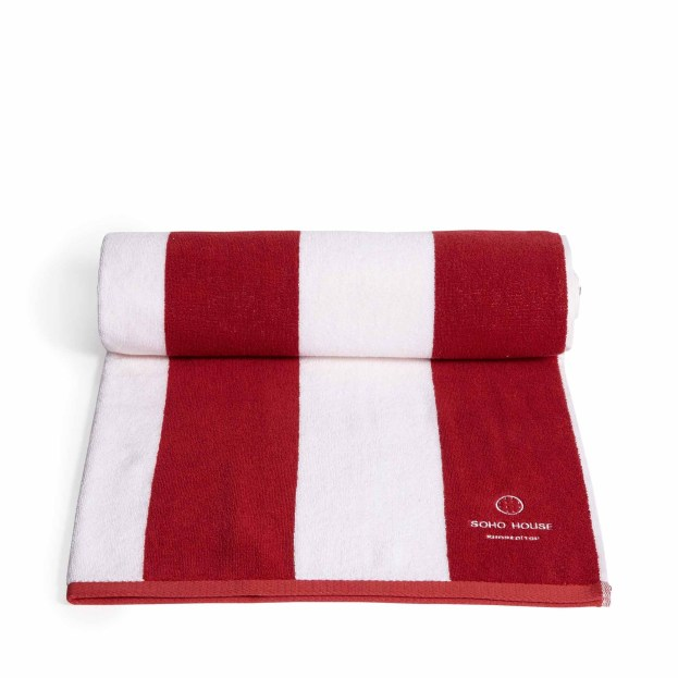 Shoreditch house pool towel red