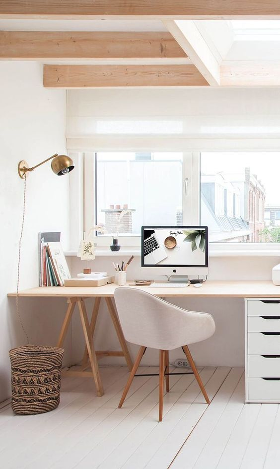 Home office space minimalism