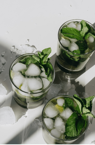 apple and mint mocktail