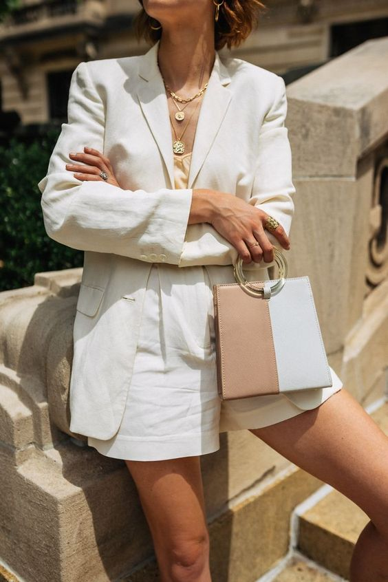 summer power suit outfit