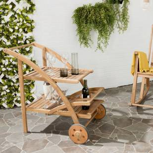 safavieh outdoor bar cart