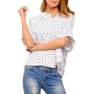 100% LINEN White Buttoned Linen Blouse
