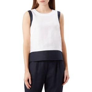 HOBBS LONDON White Halle Linen Top
