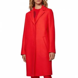 autumn fashion trends red coat boss