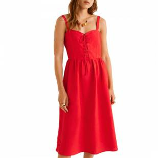 autumn fashion trends mango red dress