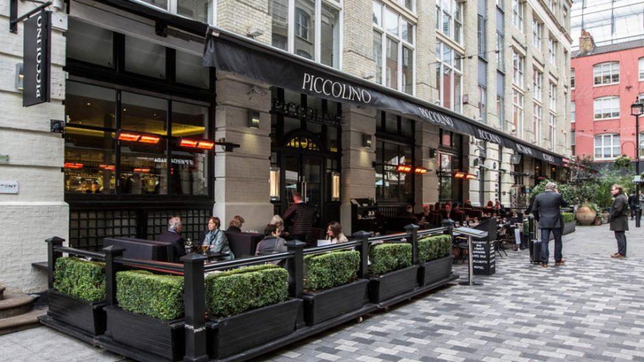 Piccolino restaurant, outdoor restaurants london, piccolino heddon street