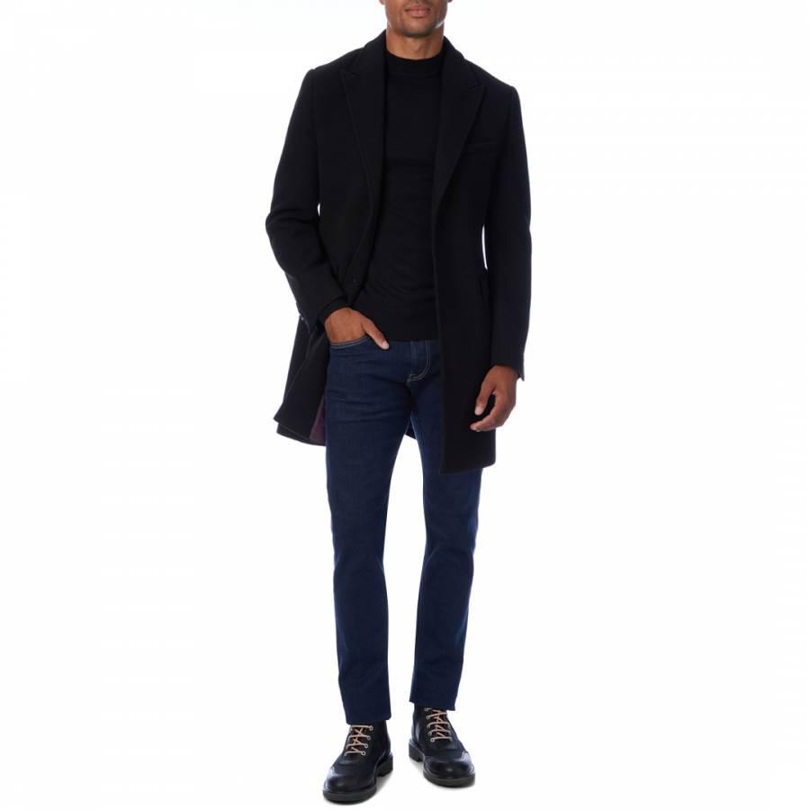 Black Friday Coat Gianni Feraud Black Wool Coat