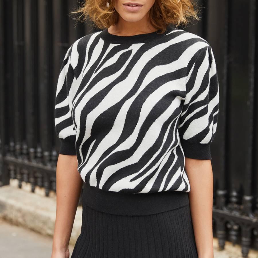 smart knitwear rodier zebra print jumper
