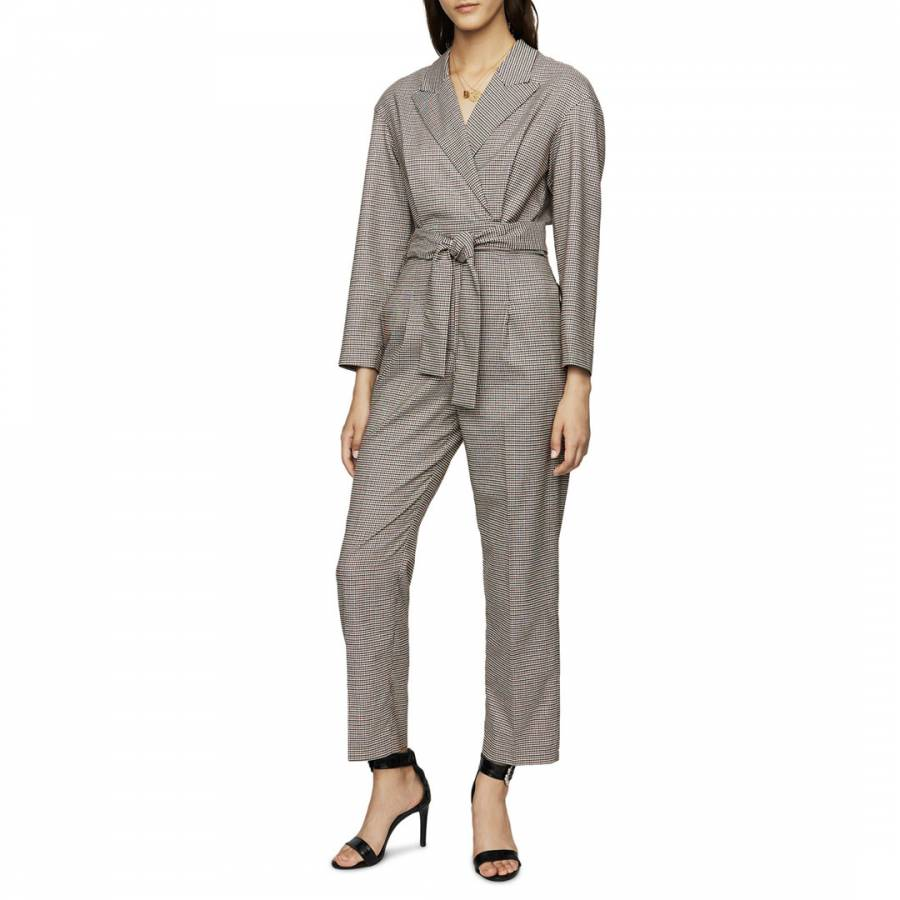 Maje Multi Checked Jumpsuit