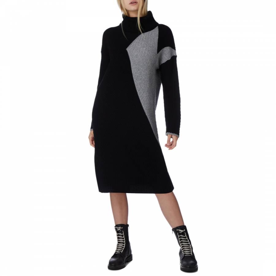 Smart knitwear No. Eleven Cashmere Grey & Black Jumper Dress