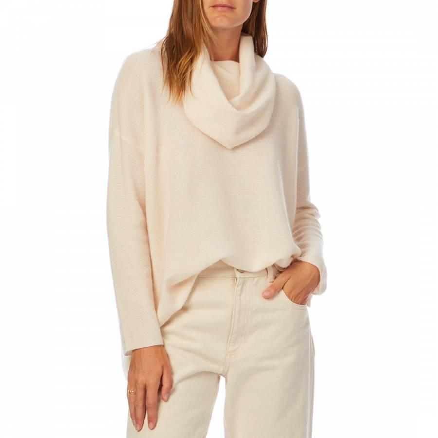 smart knitwear Scott & Scott London Pale Pink Beatrice Cashmere Jumper - £149