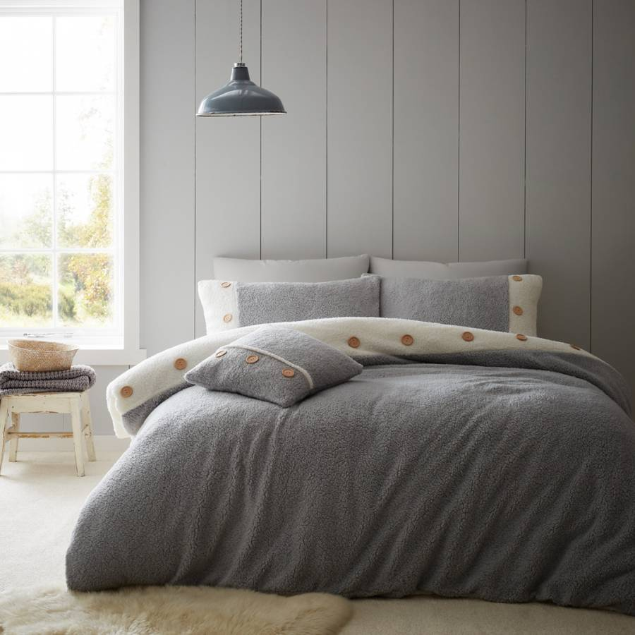 blue monday bed linen Catherine Lansfield Two Tone Duvet Cover Set