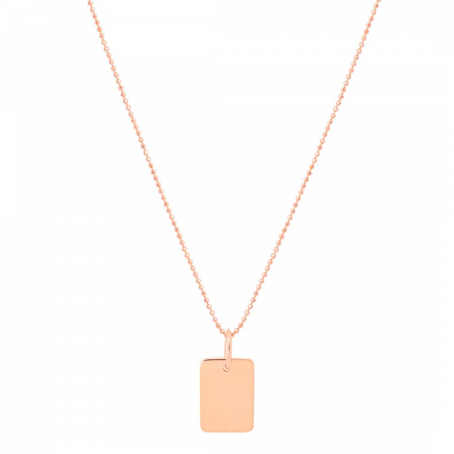 ASTRID & MIYU Rose Gold Basic 2.0 Medium ID Necklace