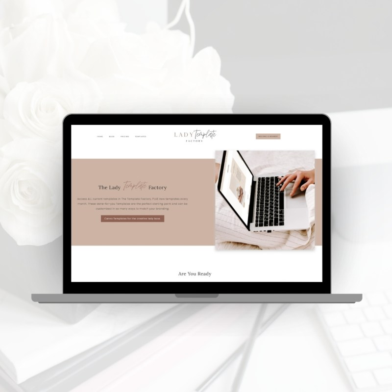 Mock Up Lady Template Factory