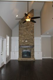 Custom Home Knox Tn Stone Fireplace