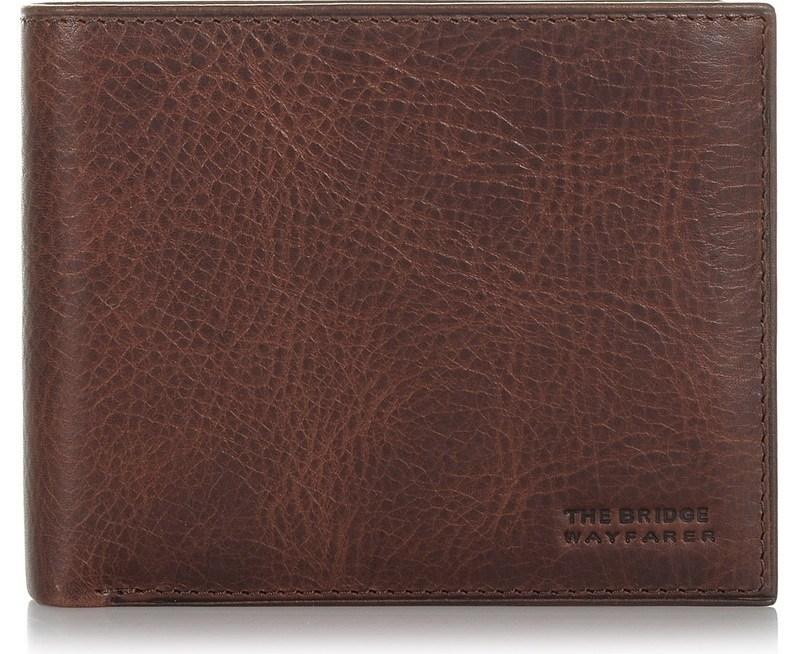 Δερμάτινο Πορτοφόλι The Bridge Wayfarer Crosser Horizontal Wallet With Coin Holder CSS238
