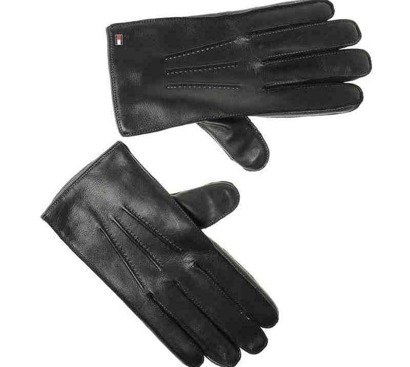 Αντρικά Δερμάτινα Γάντια Tommy Hilfiger Two Tone Gloves AW02511