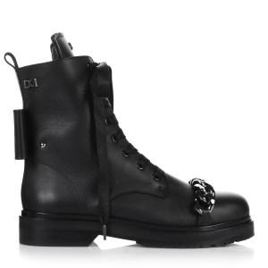 Δερμάτινα Μποτάκια Dukas 12. Flat Boots Chain