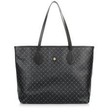 Δερμάτινη Τσάντα Ώμου Trussardi Shopping Medium Bag Monogram Crepe Leather/Velvet Calf Leather 76B00040