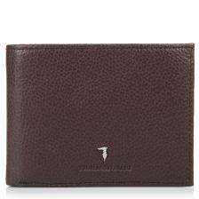 Δερμάτινο Πορτοφόλι Trussardi Jeans Wallet Flap Coin Pocket Tumbled 71W00001