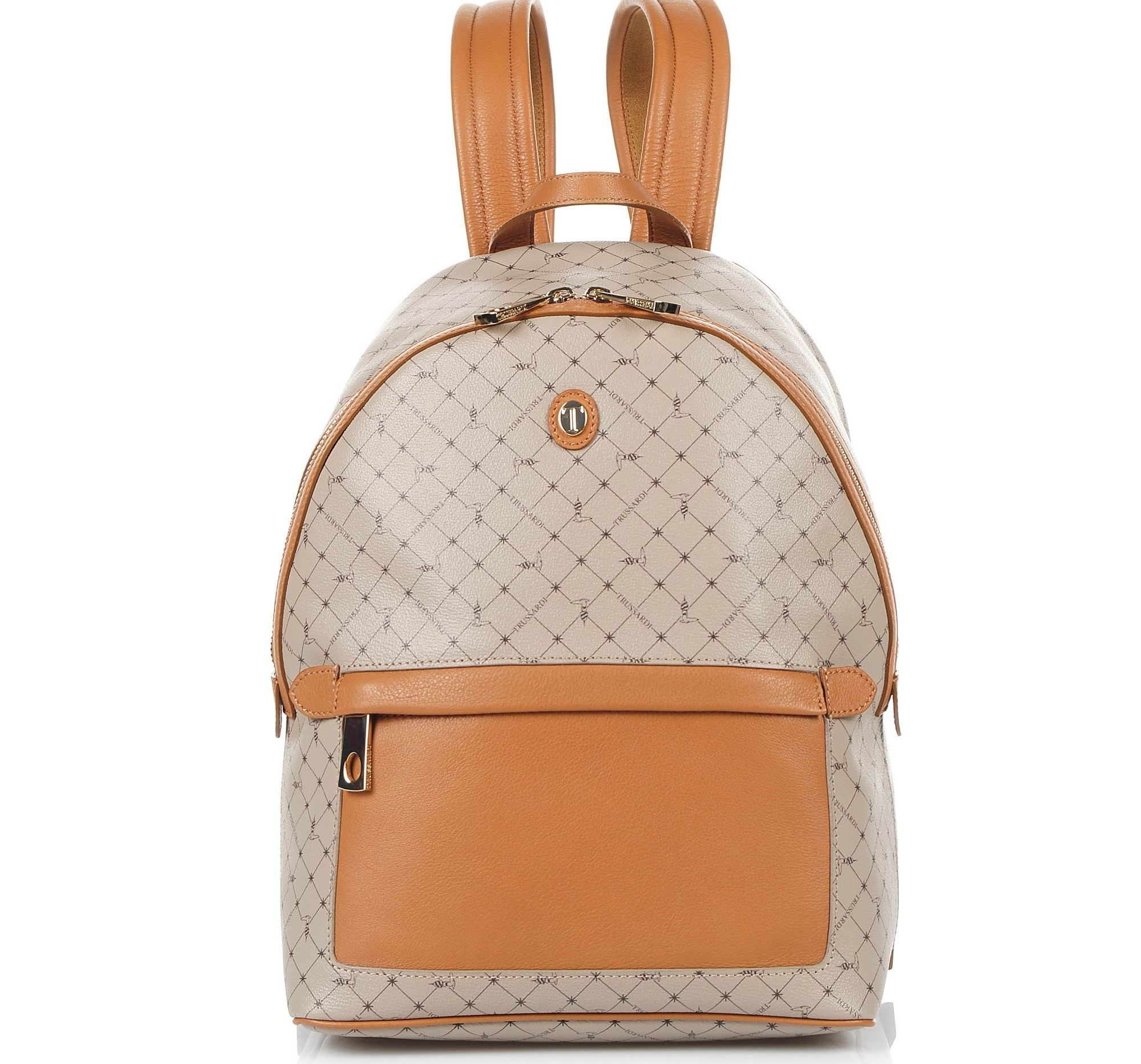 Δερμάτινο Σακίδιο Πλάτης Trussardi Mini Backpack Monogram Crepe Leather/Velvet Calf Leather 76B00042