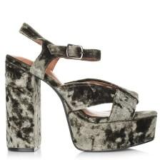 Πέδιλα Jeffrey Campbell Velvet Amalia V Platform Sandals