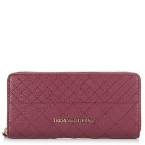 Πορτοφόλι Κασετίνα Trussardi Jeans Levanto Quilted Wallet Zip Around 75W111