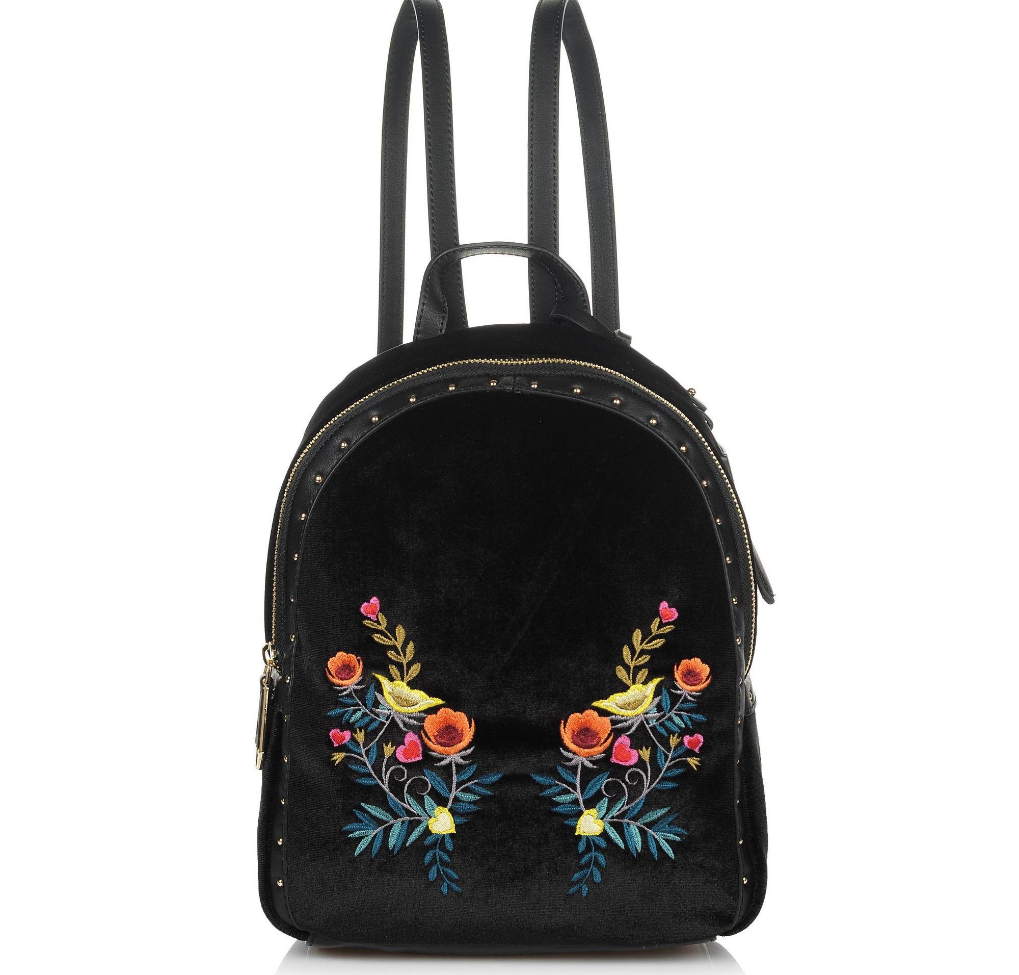 Σακίδιο Πλάτης Trussardi Jeans Portulaca Backpack Velvet/Embrpoidery 75B00539