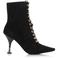 Suede Δερμάτινα Μποτάκια Jeffrey Campbell Letizia Lace Up Heeled Boots