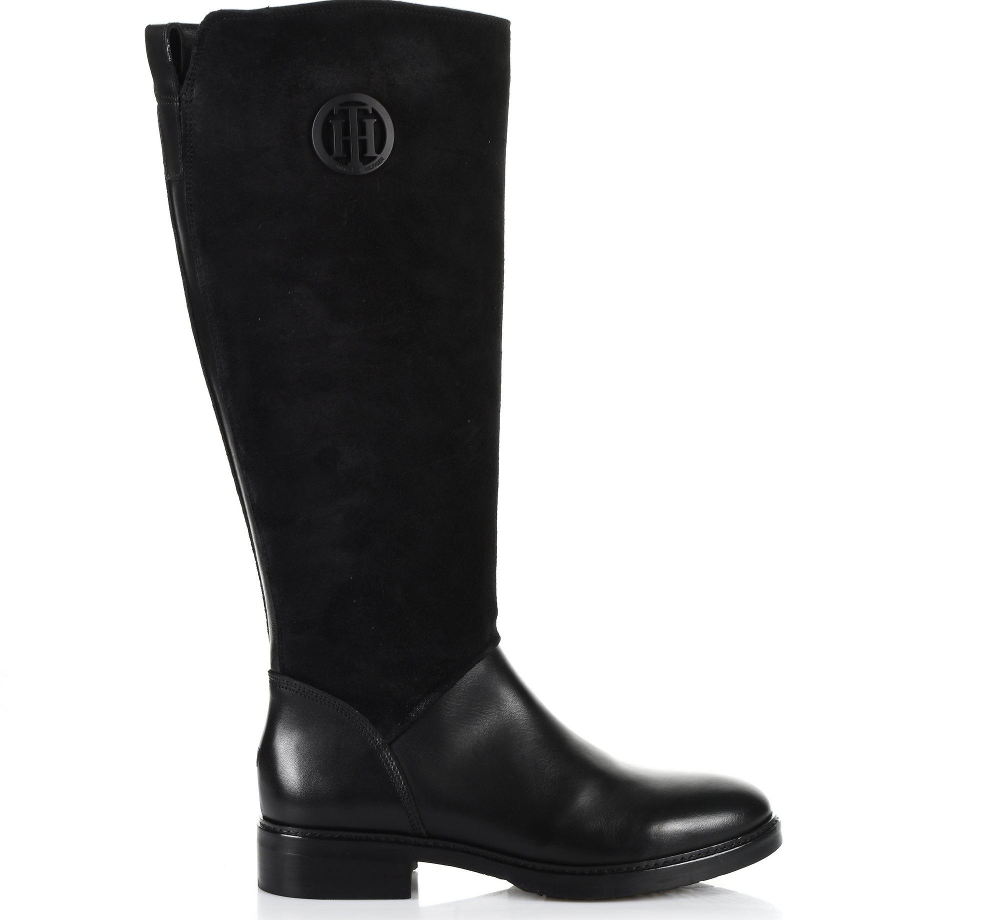 Suede Δερμάτινες Μπότες Tommy Hilfiger Basic TH Riding Boot FW0FW03450