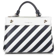Tote Τσάντα Tommy Hilfiger Cool Hardware Satchel Stripe AW0AW04944
