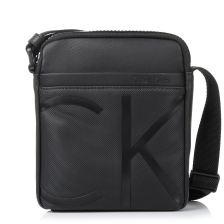 Τσαντάκι Χιαστί Calvin Klein Raised Logo Mini Reporter K50K503692