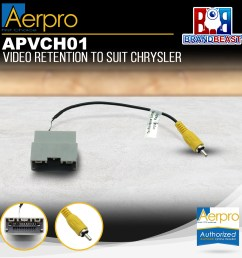 details about aerpro apvch01 oem reverse camera retention harness to suit chrysler jeep dodge [ 1600 x 1600 Pixel ]