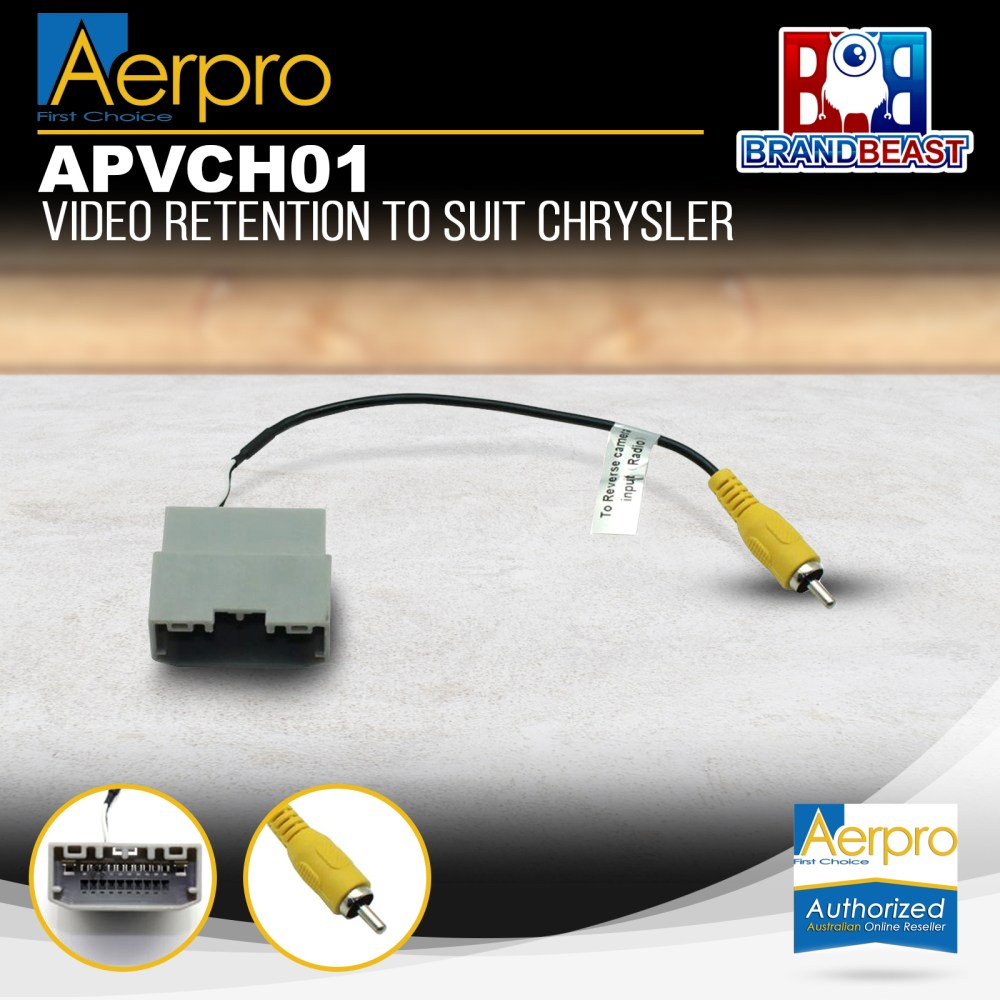 medium resolution of details about aerpro apvch01 oem reverse camera retention harness to suit chrysler jeep dodge