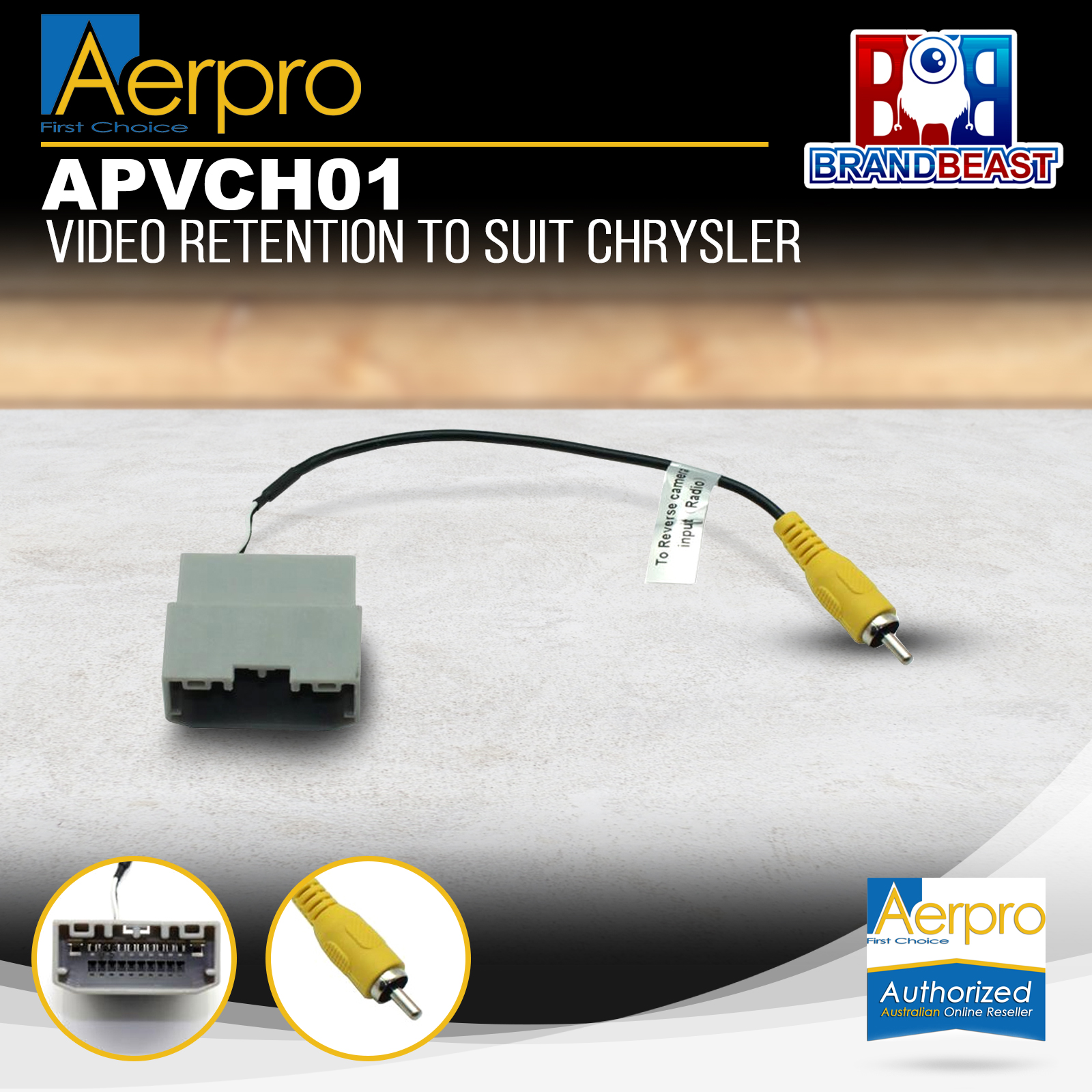 hight resolution of details about aerpro apvch01 oem reverse camera retention harness to suit chrysler jeep dodge